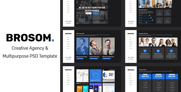 Brosom - Agency PSD Template - Corporate Photoshop