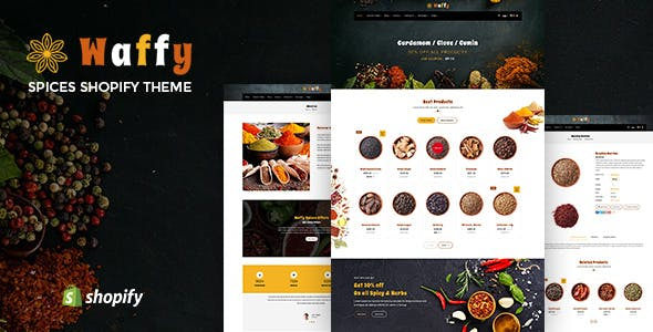Waffy | Spices, Dry Fruits and Nuts Organic shop Shopify Theme