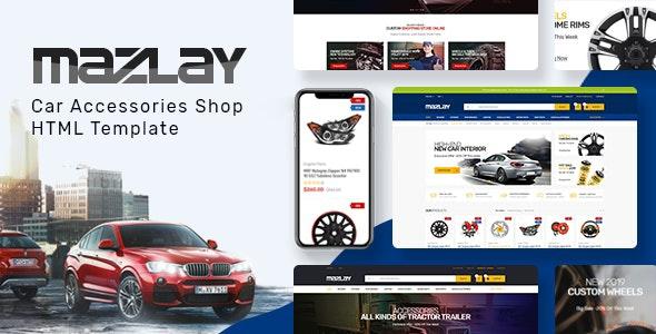 Mazlay Car Accessories Shop HTML Template