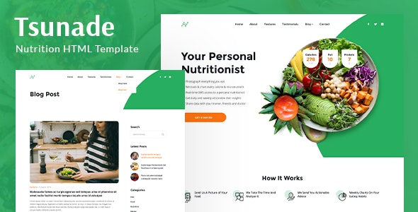 Tsunade - Health HTML Template - Corporate Site Templates