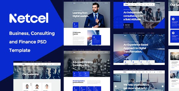 Netcel - Business Consulting and Finance PSD Template