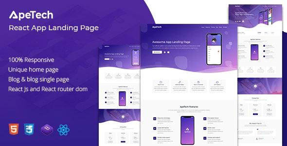 Apetech - React App Landing Page - Site Templates