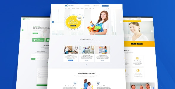 HomeCleaner - Cleaning Services Bootstrap 4 Template - Business Corporate