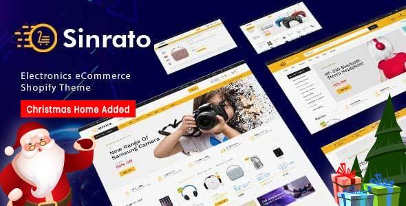 Sinrato - Electronics Mega Shop Shopify Theme