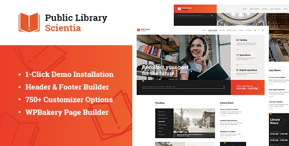 Scientia | Public Library & Book Store Education WordPress Theme - Education WordPress