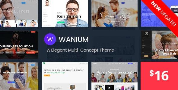 Wanium – A Elegant Multi-Concept Theme