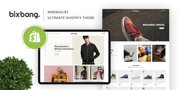Bixbang   Minimalist eCommerce Shopify Template - Fashion Shopify