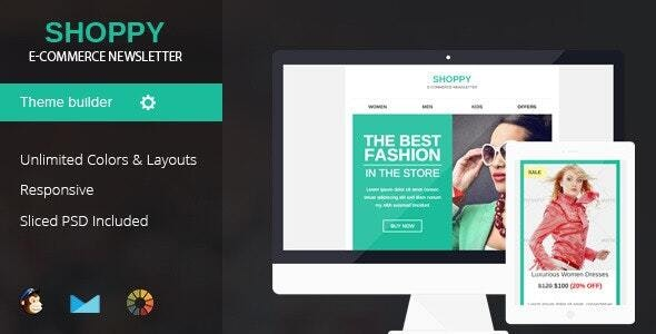 Shoppy Responsive Email Template - Email Templates Marketing