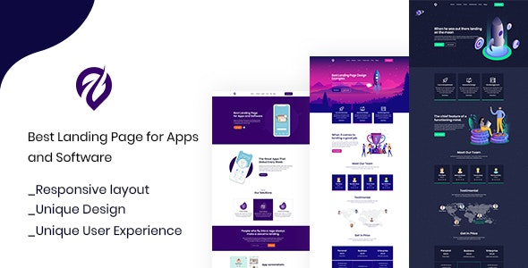 Uppi - PSD template for Mobile App & Saas - Software Technology