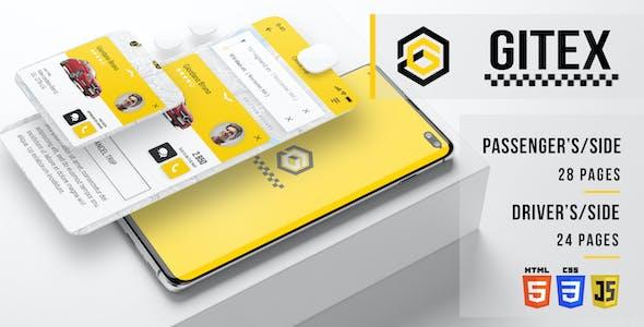 Gitex - Taxi HTML Mobile Application