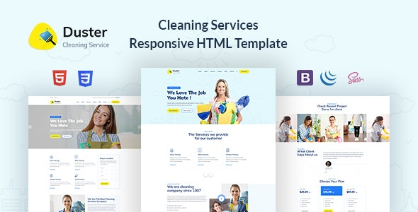 Duster - Cleaning Services Responsive HTML Template - Business Corporate