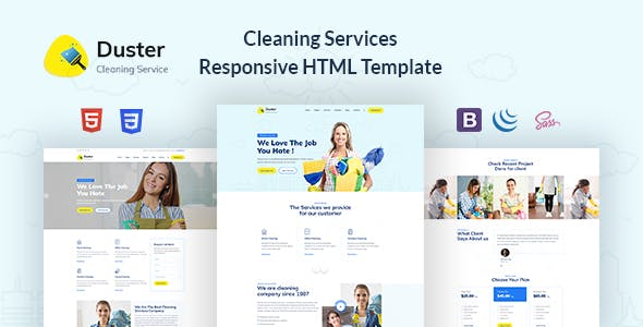 Duster - Cleaning Services Responsive HTML Template