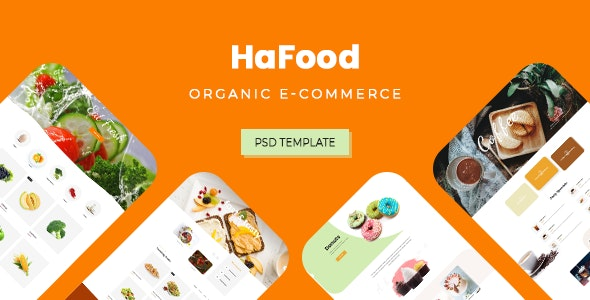HaFood - Organic E-commerce PSD Template - Retail Photoshop
