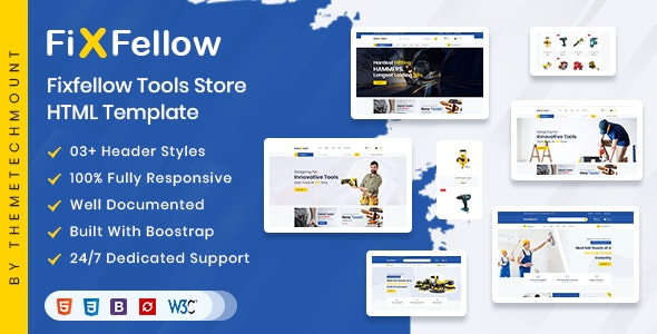Fixfellow - Tools Store eCommerce HTML Template - Shopping Retail