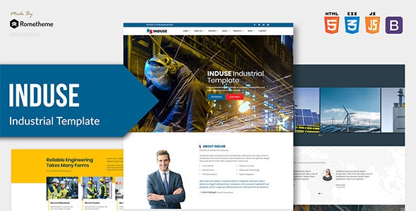 INDUSE - Industrial Services HTML Template - Site Templates