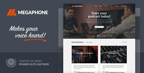 Megaphone - Audio Podcast WordPress Theme - Personal Blog / Magazine