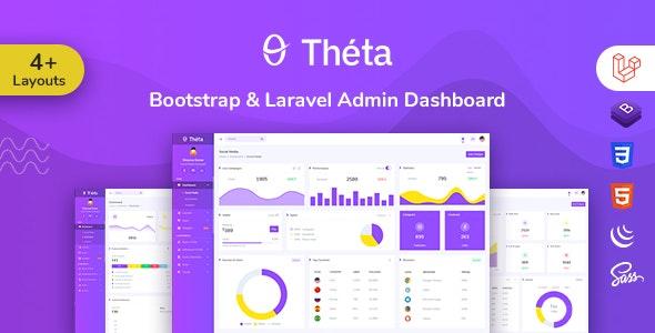 Theta - Bootstrap + Laravel Admin Dashboard Template by