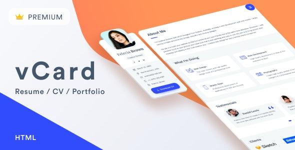 vCard – Resume / CV / Portfolio by ArtTemplate