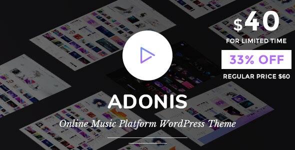 Adonis   Music Platform WordPress Theme - Music and Bands Entertainment