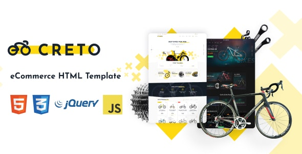 Creto | eCommerce HTML Template - Shopping Retail