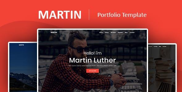 Martin Luther - Personal Portfolio Template
