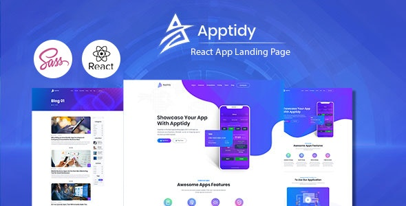 Apptidy - React App Landing Page - Technology Site Templates