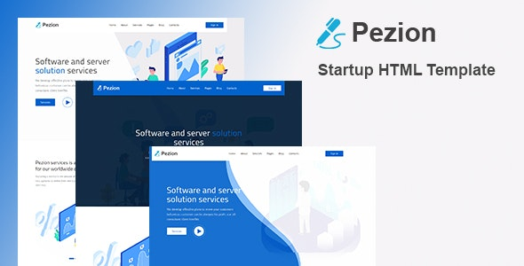 Pezion - Creative Startup HTML Template by Rocks_theme