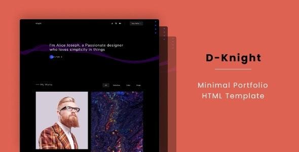 D-Knight - Minimal Portfolio HTML Template - Portfolio Creative