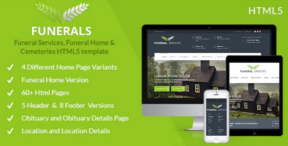 Funeral Services & Cemeteries HTML5 - Business Corporate
