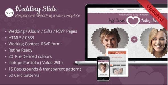 Wedding Invite — Responsive HTML Template - Wedding Site Templates