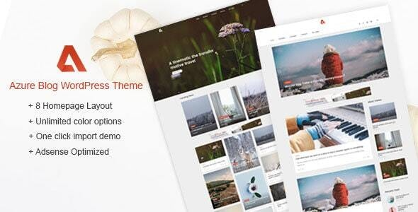 Azure - Blog WordPress Themes - Personal Blog / Magazine