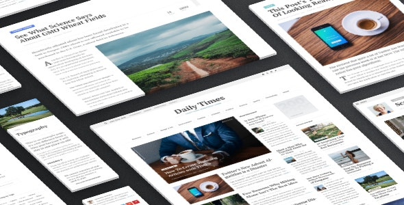 TIMES - Newspaper Magazine Theme - News / Editorial Blog / Magazine