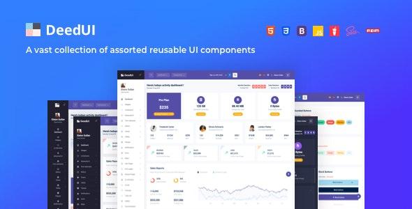 DeedUI — Responsive Bootstrap Admin Template - Admin Templates Site Templates