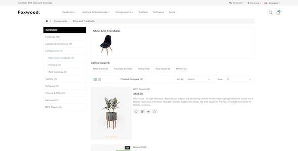 Foxwood - Opencart 3 Furniture Responsive Theme