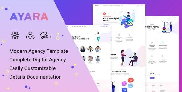 Ayara - React Creative Agency Template by cdibrandstudio