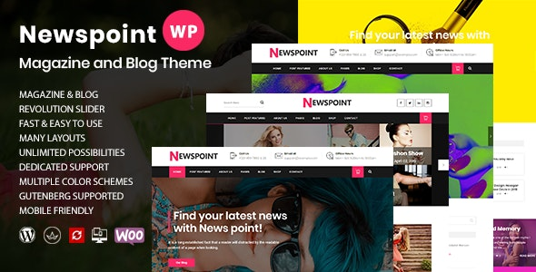 Newspoint - Creative Personal Blog WordPress Theme - Blog / Magazine WordPress