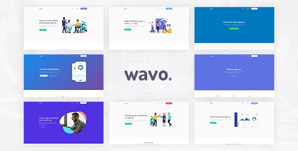 Wavo - Responsive Bootstrap SaaS, Startup & WebApp Template - Technology Site Templates