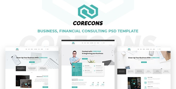 Corecons - Consulting Finance PSD Templates - Business Corporate