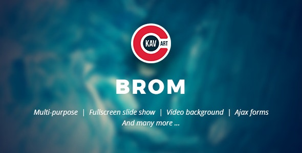 Brom - HTML Creative Page - Creative Site Templates