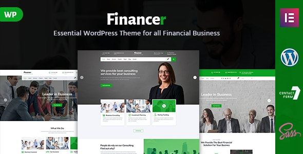 Financer - Consulting & Business WordPress Theme - Business Corporate