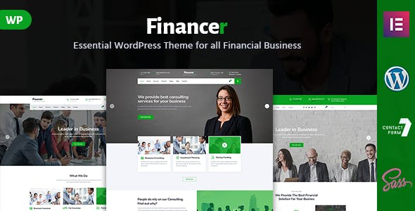 Financer - Consulting & Business WordPress Theme