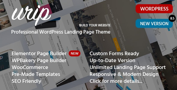 Urip - Professional Landing Page WordPress Theme - Marketing Corporate