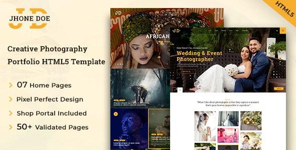 Jhone Doe HTML5 Photography Template - Photography Creative