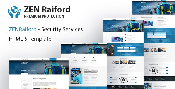 ZenRaiford - Security Services HTML Template - Business Corporate