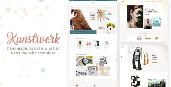 Kunstwerk - Handmade & Artisan HTML Website Template