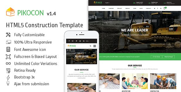Pikocon - Construction Building Company HTML5 Template