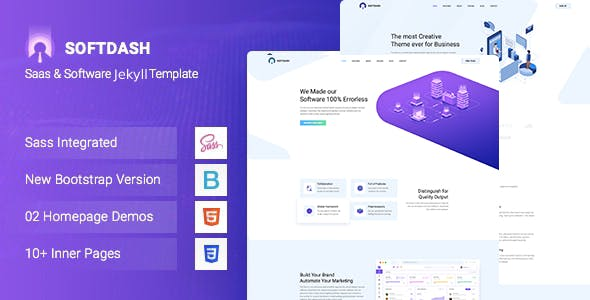 Download Softdash - Creative SaaS and Software JEKYLL Template
