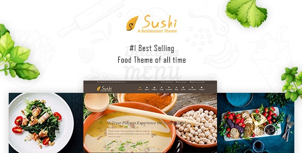 Sushi - Restaurant Theme - Food Retail