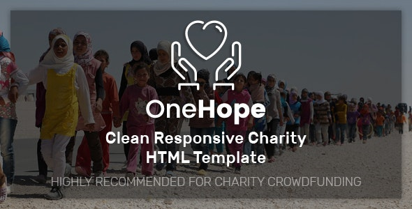OneHope - Charity HTML Template - Charity Nonprofit