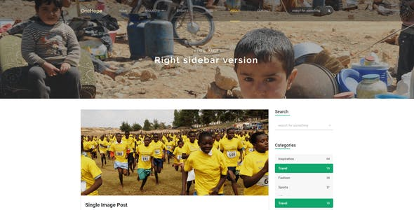 OneHope - Charity HTML Template